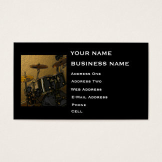 Drummer - Music Business Card