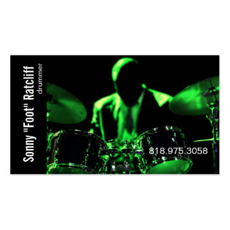 Drummer Musician for Music Business Card
