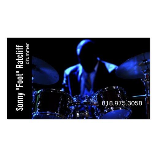 Drummer musician for music business card zazzle for Drummer business cards
