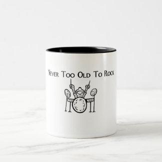 Drummer Never Too Old To Rock Coffee Mug