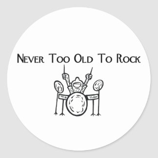 Drummer Never Too Old To Rock Sticker