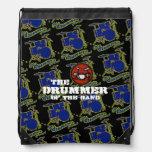 drummer of the band drawstring backpacks