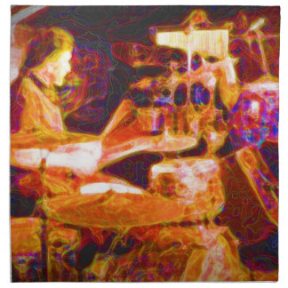 drummer on stage  behind kit artistic.jpg cloth napkin