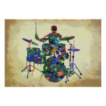 DRUMMER ON STAGE POSTER