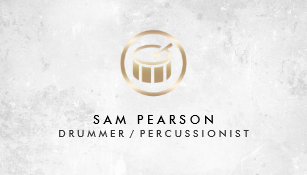 Drummer business cards templates zazzle drummer percussionist drums icon business card colourmoves Image collections