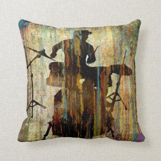 Drummer Pillow, Copyright Karen J Williams Throw Pillow