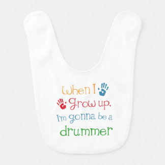 Drummer Player (Future) Child Baby Bib
