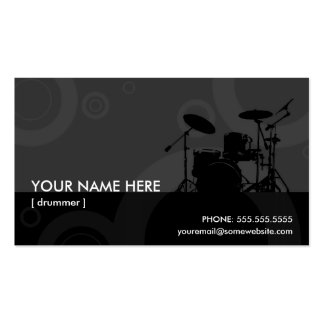 drummer rings business card template