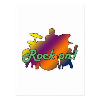 Drummer Rock On Postcard