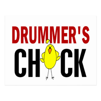 Drummer's Chick 1 Post Card