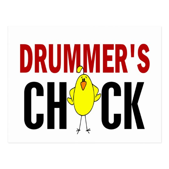 Drummer's Chick 1 Postcard