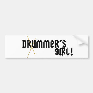 Drummer s Girl Bumper Sticker