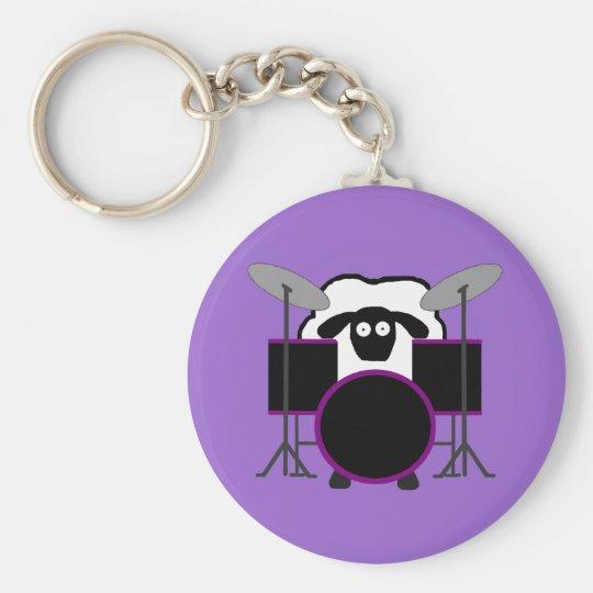 Drummer Sheep Keychain