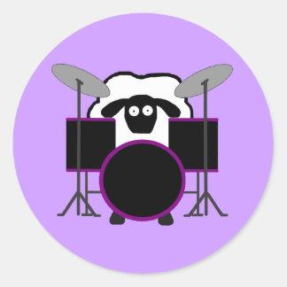 Drummer Sheep Stickers
