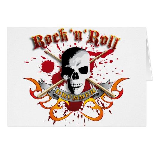 Drummer skull A Karten