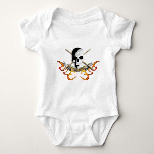 Drummer skull C Baby Bodysuit