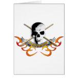 Drummer skull C Karte