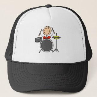 Drummer Stick Figure Trucker Hat