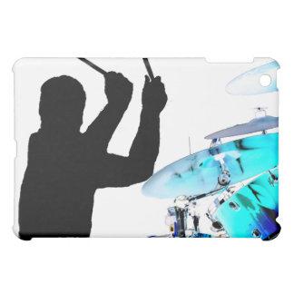 Drummer sticks in air shadow blue invert drums iPad mini cases