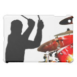 Drummer sticks in air shadow real drums iPad mini covers