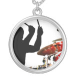 Drummer sticks in air shadow real drums necklaces