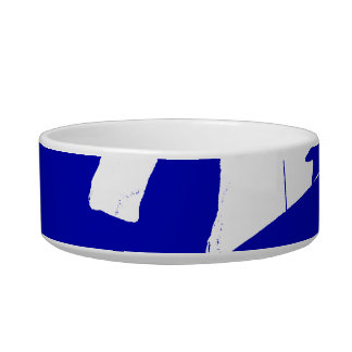 Drummer sticks in air shadow Solid blue Pet Food Bowl