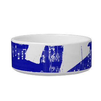 Drummer sticks shadow blue w music grunge cat water bowls