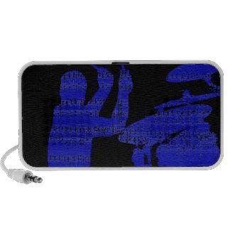 Drummer sticks shadow blue w music grunge iPod speaker