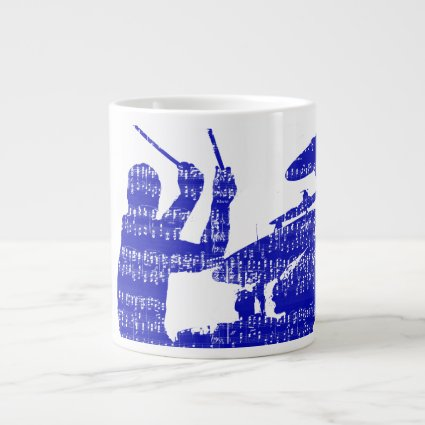 Drummer sticks shadow blue w music grunge extra large mugs