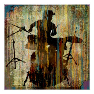 Drummer Streak, Copyright Karen J Williams Poster