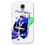 Drummer Sunglasses Blue and Yellow graphic Samsung Galaxy S4 Case