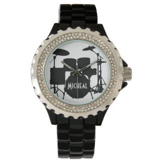 Drummer Watch with Custom Name