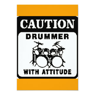 Drummer with Attitude Card