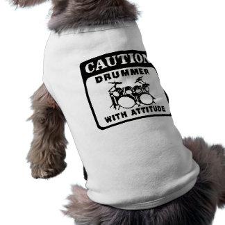Drummer with Attitude Doggie Tshirt