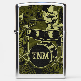 Drummer With Your Initials Zippo Lighter