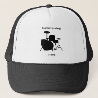 Drummers always on time trucker hat