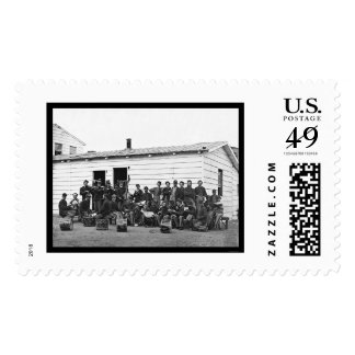 Drummers at Leisure in Washington, DC 1865 Postage