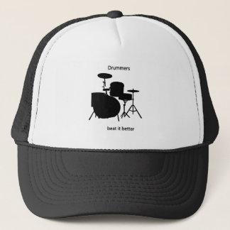 Drummers beat it better trucker hat