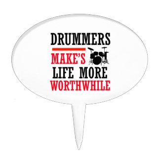 drummers design cake topper