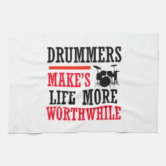 drummers design hand towels