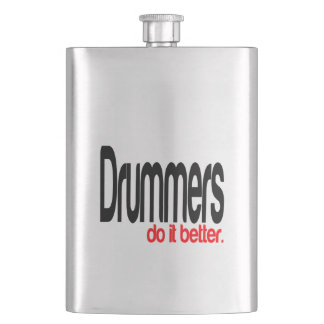 Drummers Do It Better Hip Flask