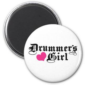 Drummer's Girl 2 Inch Round Magnet