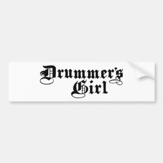 Drummer's Girl Bumper Sticker