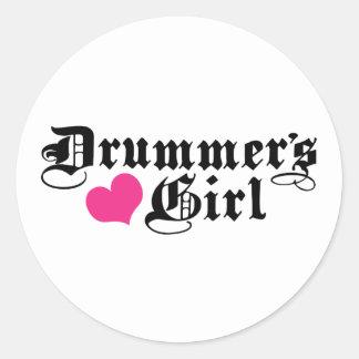 Drummer's Girl Classic Round Sticker