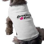 Drummer's Girl Dog T Shirt