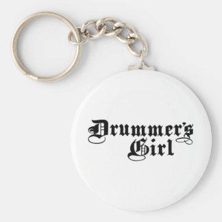 Drummer's Girl Keychain