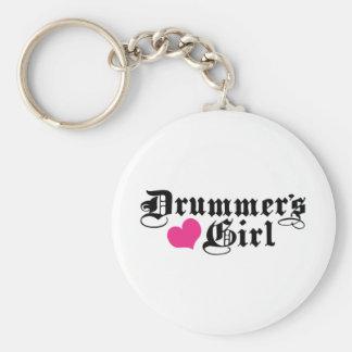 Drummer's Girl Basic Round Button Keychain