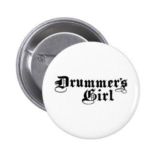 Drummer's Girl Pinback Button