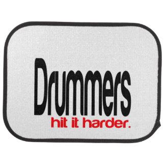 Drummers Hit It Harder Car Floor Mat