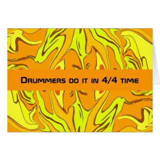 drummers humor card